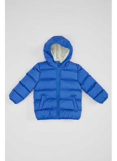 DeFacto Erkek Çocuk Kapşonlu Fermuarlı Mont Mavi